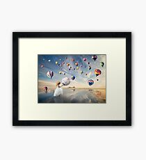 Is this where fairies come from? Framed Print