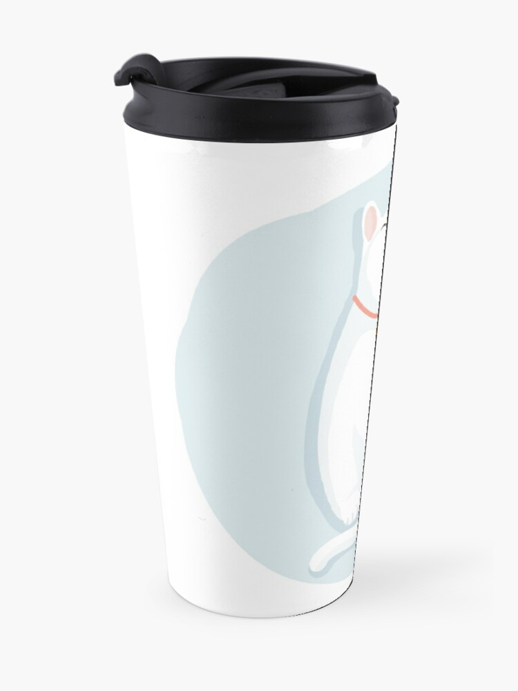Alternate view of Cat White Travel Mug