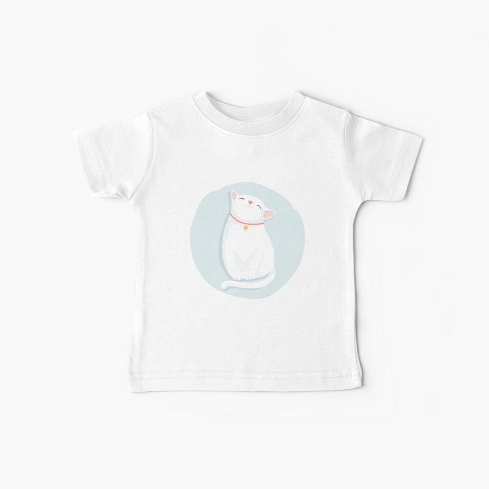 Cat White Baby T-Shirt
