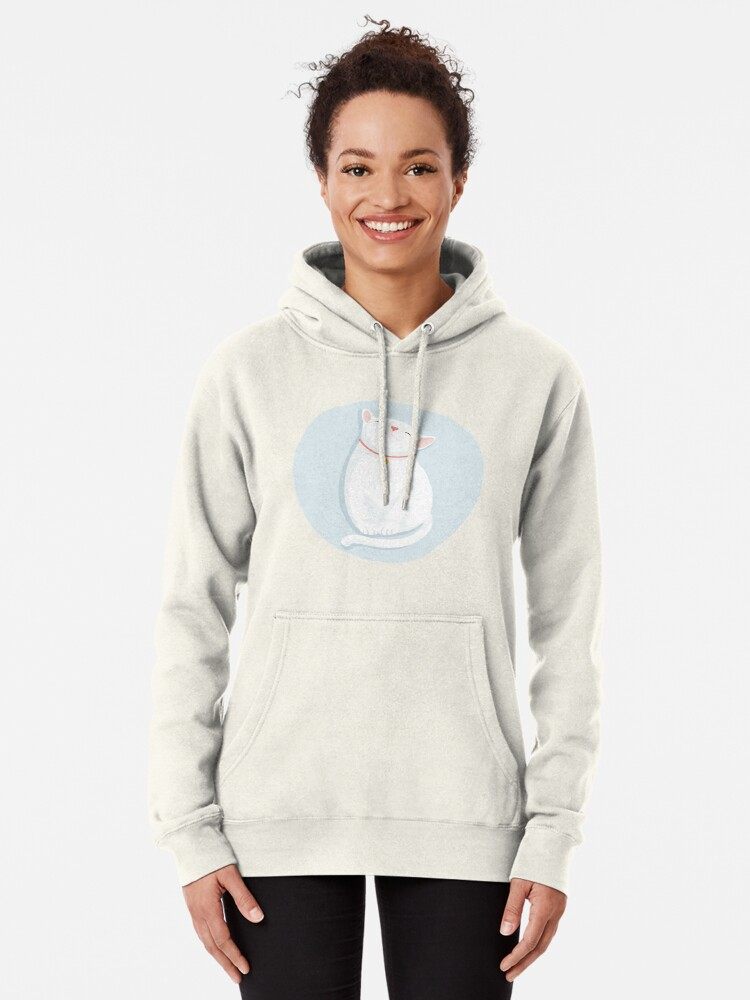 Alternate view of Cat White Pullover Hoodie