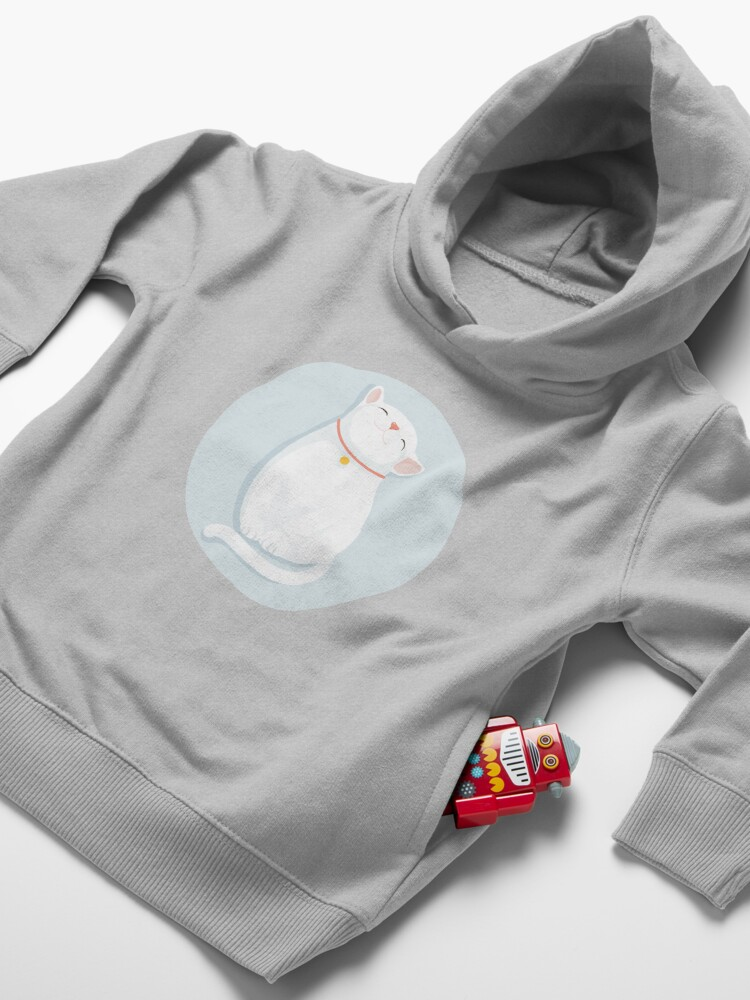 Alternate view of Cat White Toddler Pullover Hoodie