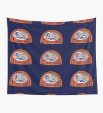 Coast Guard Saving Burning Babies in the Surf  Wall Tapestry