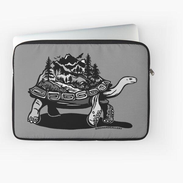 World Tortoise Digital Linocut Laptop Sleeve