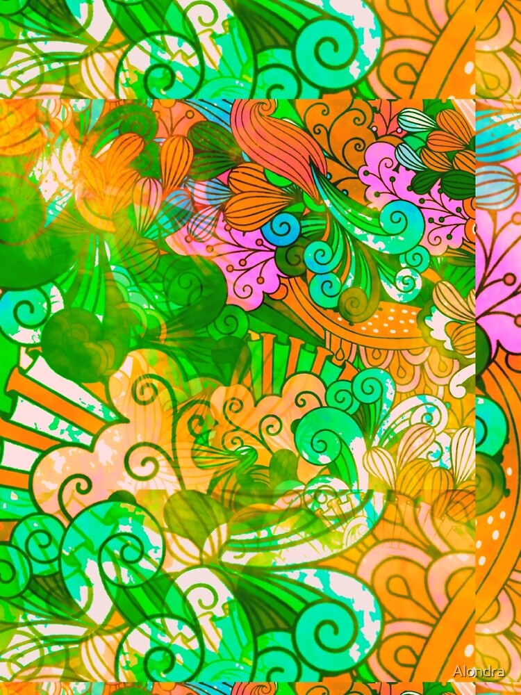 Funky Retro Psychedelic Groovy Design by Alondra
