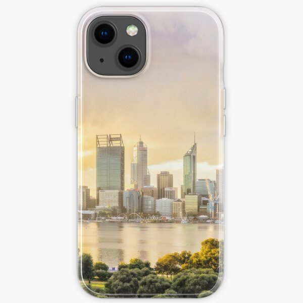 Afternoon City Glow, South Perth, Perth iPhone Soft Case