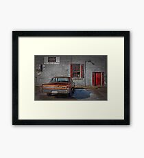 The Garage Framed Print