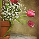 Textured Tulips by Maria Dryfhout
