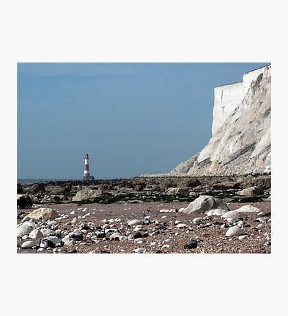 Beachy Head Lighthouse from Falling Sands Photographic Print
