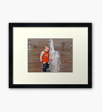 Fountains of Fun- Crown Center Framed Print