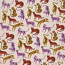 Tiger-Sammlung - rosa u. Gelbe Palette von Cat Coquillette