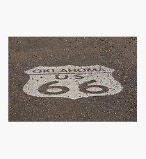 Route 66 - Oklahoma Shield Photographic Print