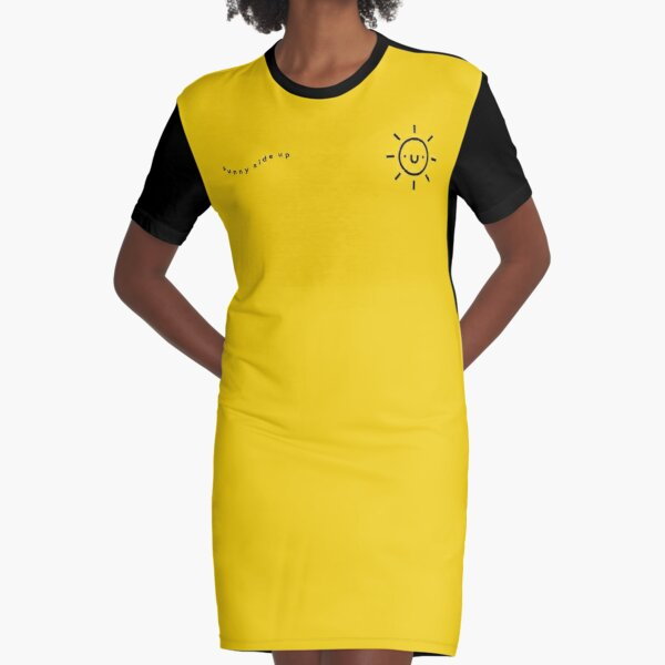 Sunny Side Up Graphic T-Shirt Dress