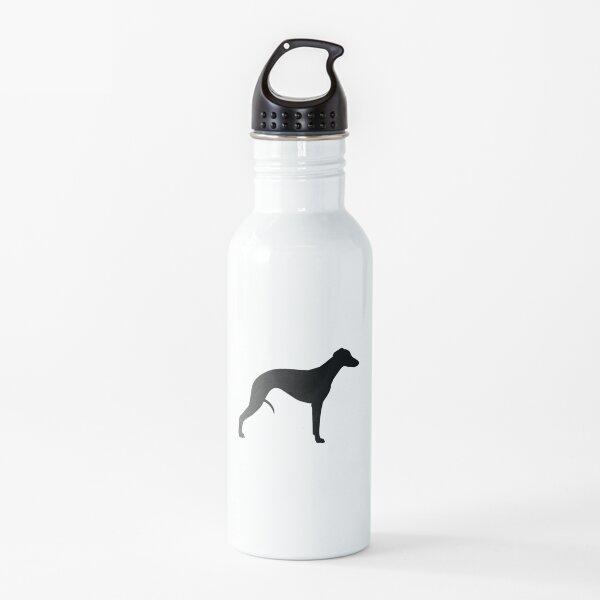 Whippet Silhouette(s) Water Bottle