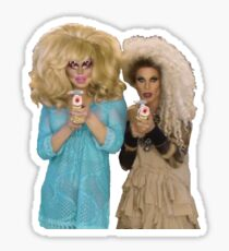 Trixie & Katya Nerf Guns Sticker
