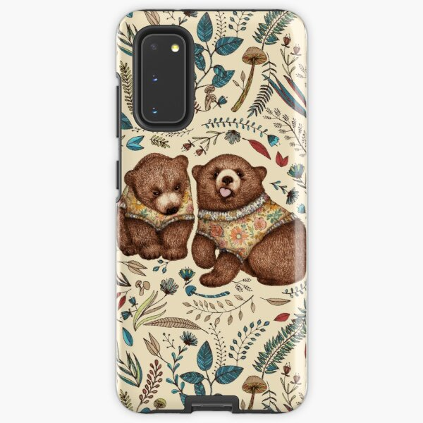 Whimsical Bear Pair with Fantasy Flora  Samsung Galaxy Tough Case