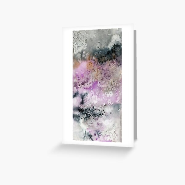 Abstraktes Aquarelldesign inspiriert vom Doubtful Sound in Neuseeland Grußkarte