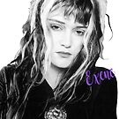 Rock goddess Exene by ikonvisuals