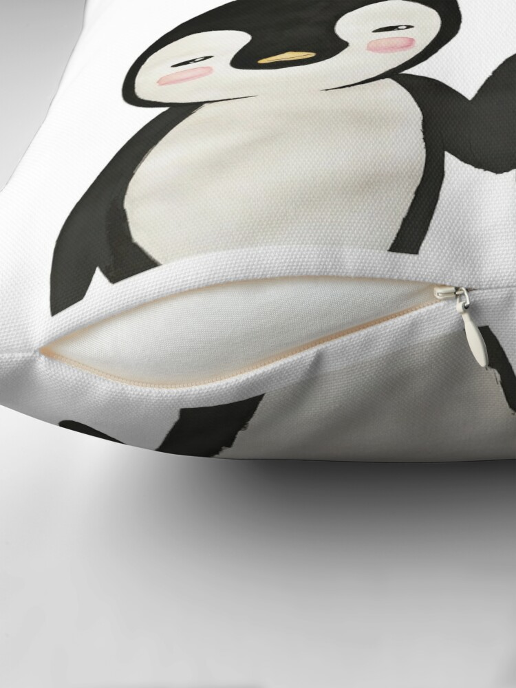 Alternate view of You're my Penguin | When Penguins are in Love Throw Pillow