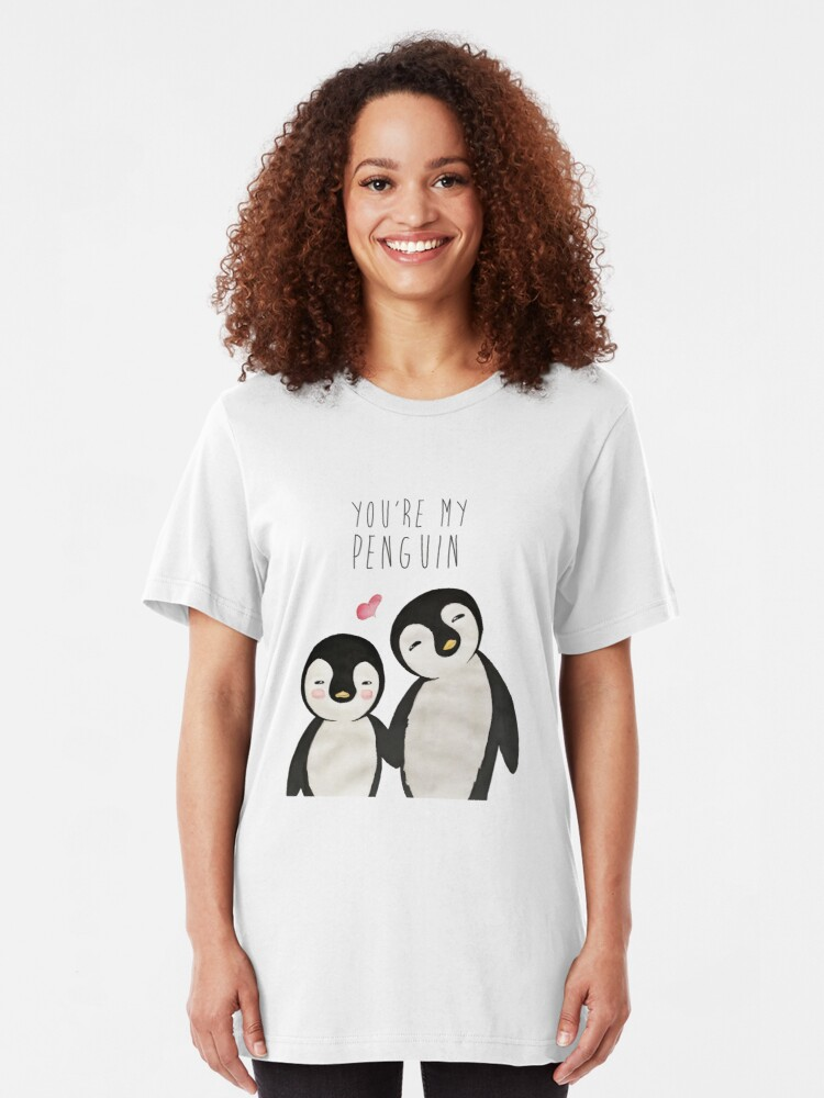 Alternate view of You're my Penguin   When Penguins are in Love Slim Fit T-Shirt