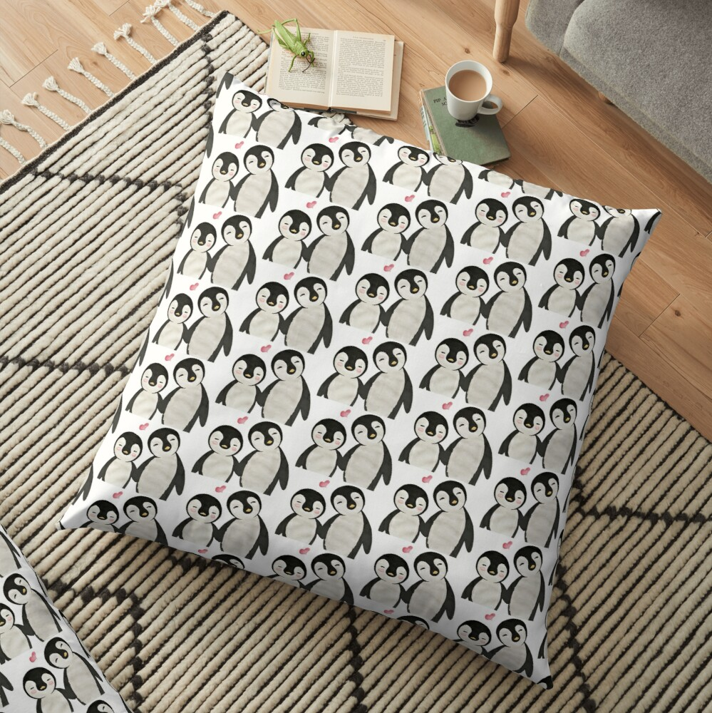 You're my Penguin | When Penguins are in Love Floor Pillow