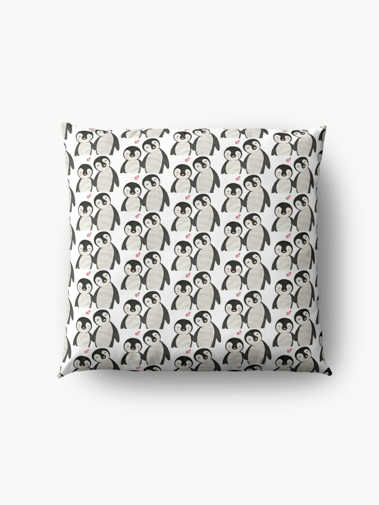 Alternate view of You're my Penguin | When Penguins are in Love Floor Pillow