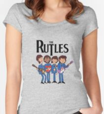The Rutles Animated Cartoon Women's Fitted Scoop T-Shirt