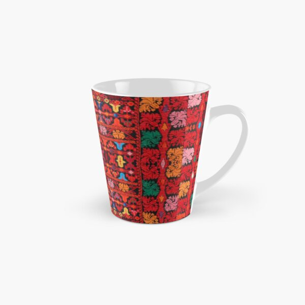 Palestinian Red Old Pattern Embroidery Tall Mug
