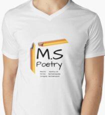 M.S Poetry logo V-Neck T-Shirt