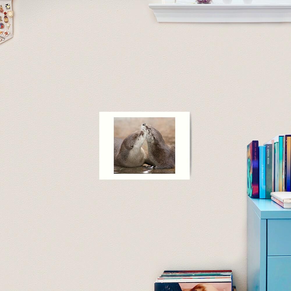Otter kisses Art Print