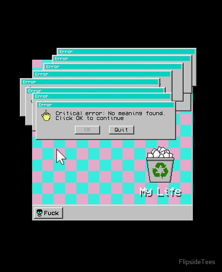 My Life Sad And Depressed 90s Vaporwave Aesthetic Ipad Case Skin By Flipsidetees Redbubble