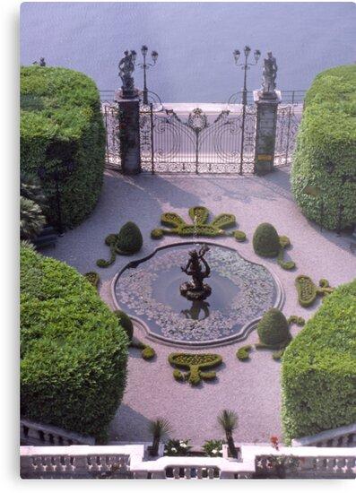 Formal Entrance, garden, Villa Carlotta, Lake Como , Italy. by johnrf