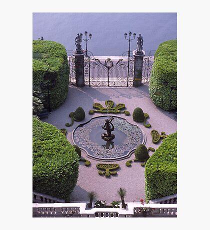 Formal Entrance, garden, Villa Carlotta, Lake Como , Italy. Photographic Print