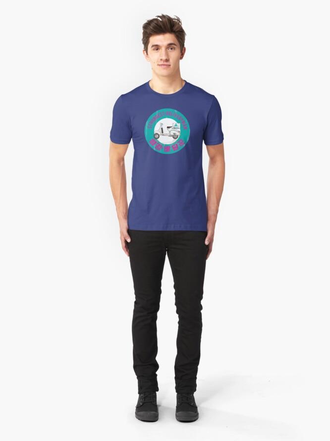 Alternate view of Strongest Deliveryman Slim Fit T-Shirt