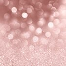 Ombre rose gold pink glitter bokeh lights  by Kicksdesign
