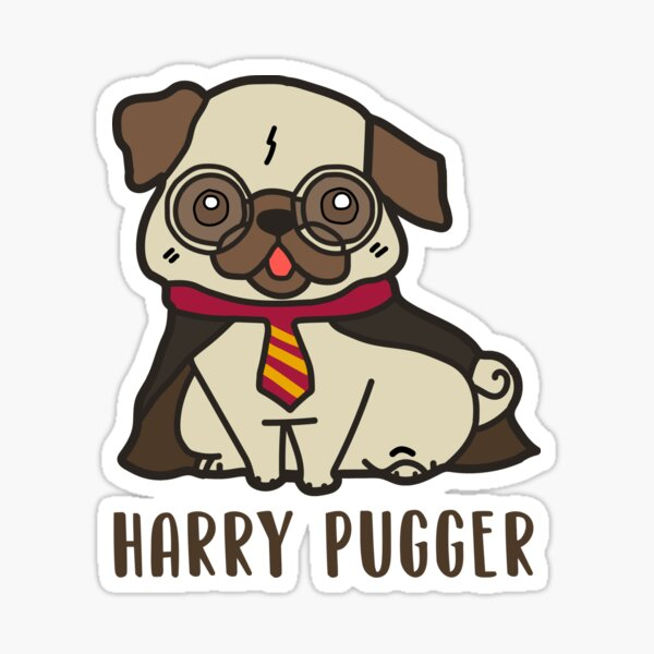 Harry Pugger for Funny Pug Lovers Sticker