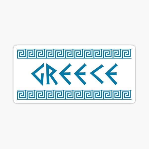 greece nation text Sticker