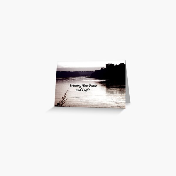 Peace and Light Card Greeting Card