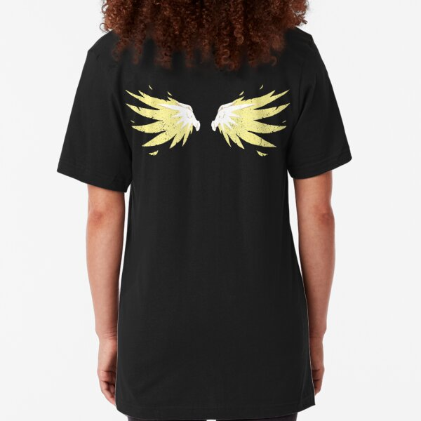 Mercy Wings [Texturized] Slim Fit T-Shirt