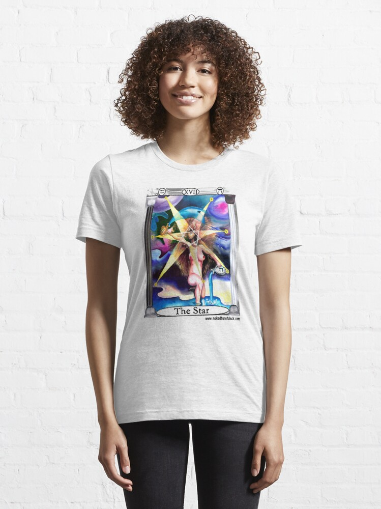 Alternate view of Naked Tarot The Star Essential T-Shirt