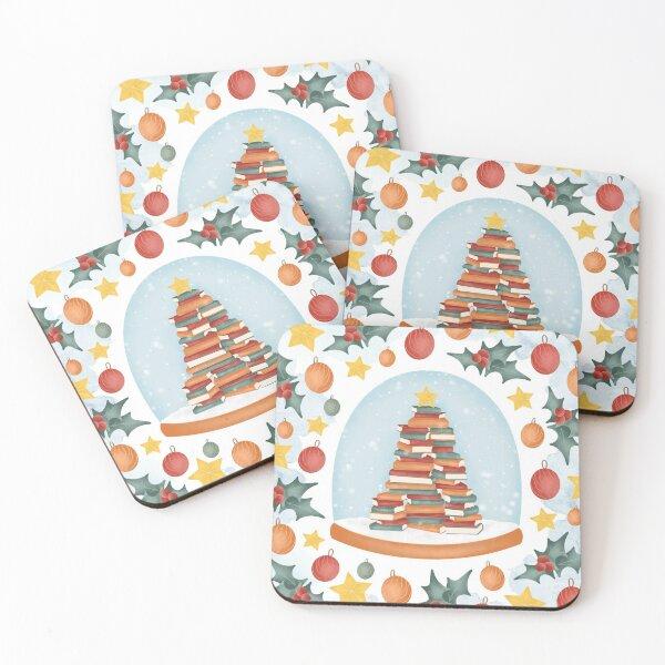 BOOKISH CHRISTMAS Coasters (Set of 4)