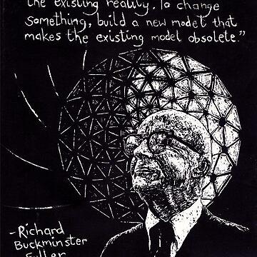 """Richard Buckminster Fuller"" by consciousD"