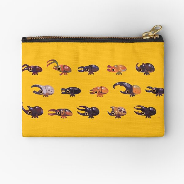 Rhino and Stag Zipper Pouch