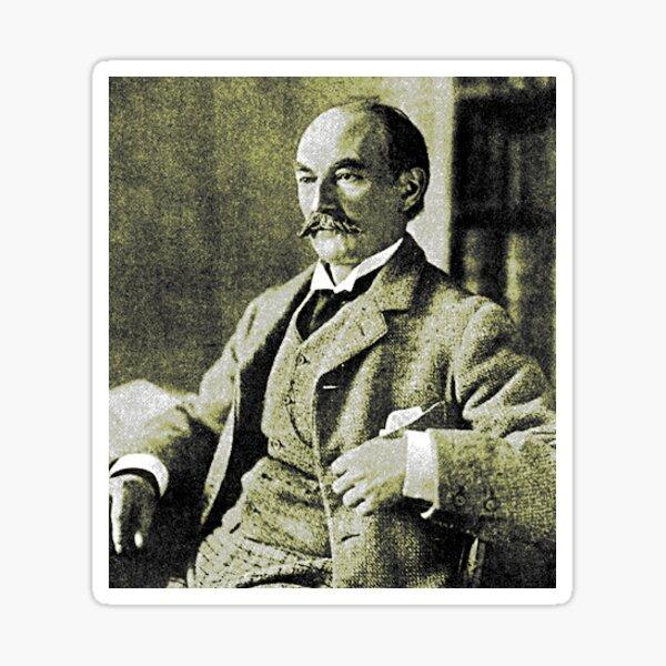Thomas Hardy OM, English novelist and poet. Sticker