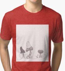 Mushroom Patterns  Tri-blend T-Shirt