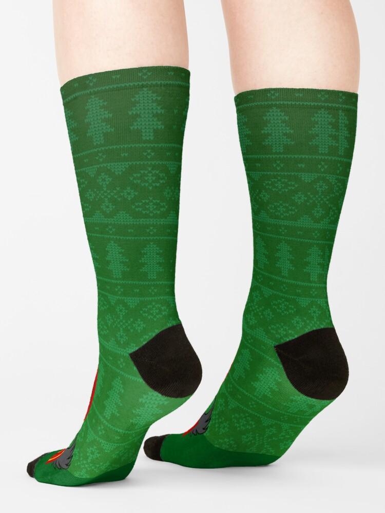 Alternate view of Silly Santa Socks Socks