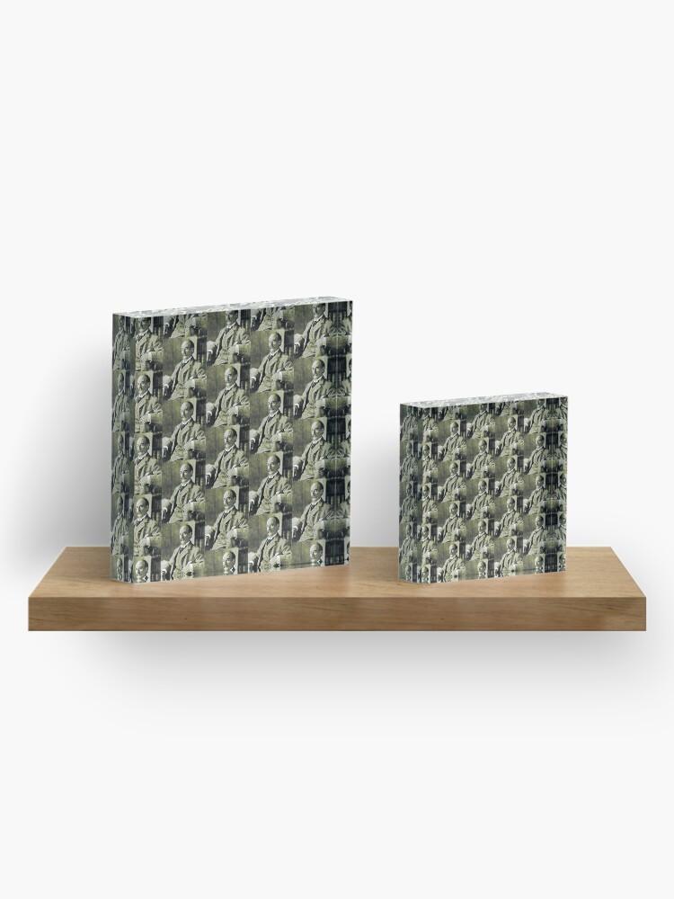 Alternate view of Thomas Hardy OM, English novelist and poet. Acrylic Block