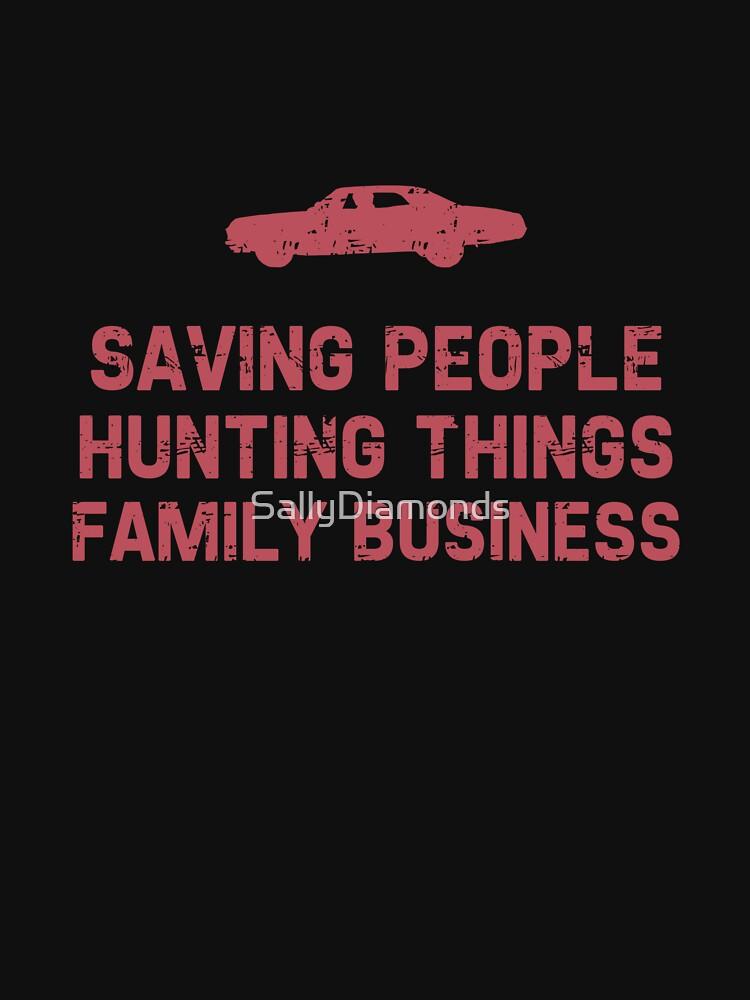 "Supernatural ""Saving People, Hunting Things, Family Business"" | Women's T-Shirt"