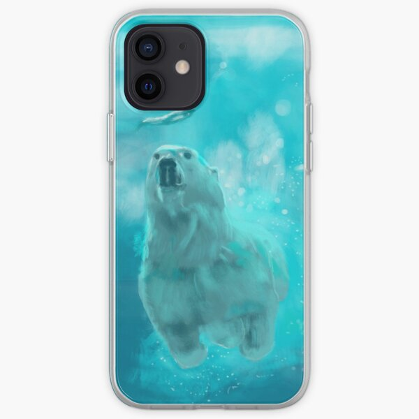 ours polaire by sophiescolors Coque souple iPhone