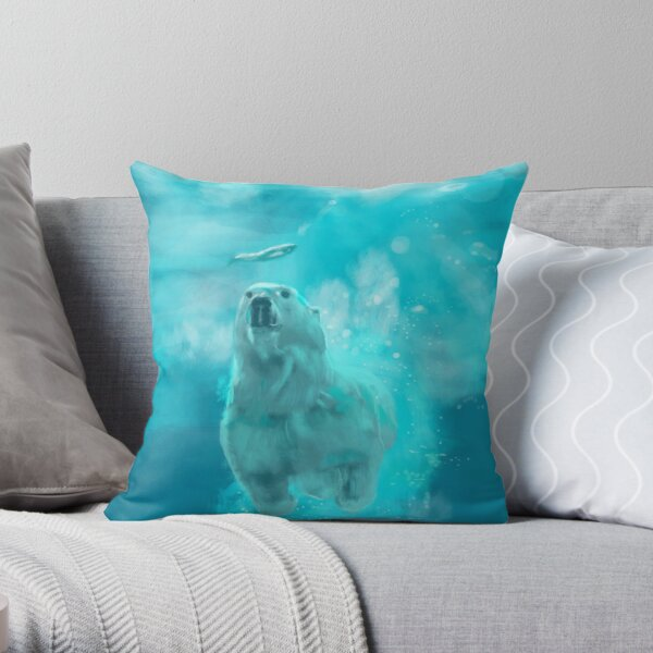 ours polaire by sophiescolors Coussin