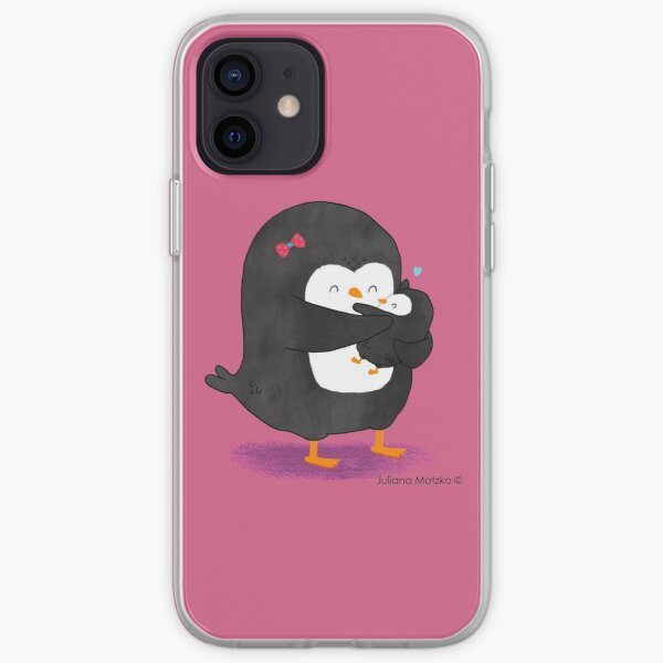 Mother Penguin's Love iPhone Soft Case